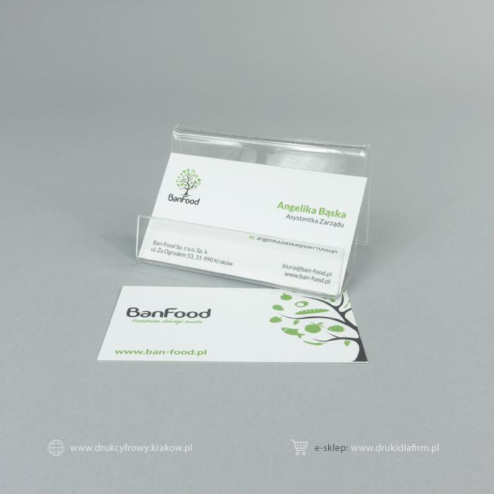 wizytówka standard z folią matową