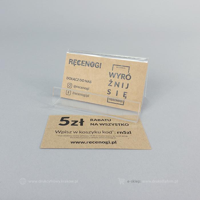wizytówka na papierze ekologicznym