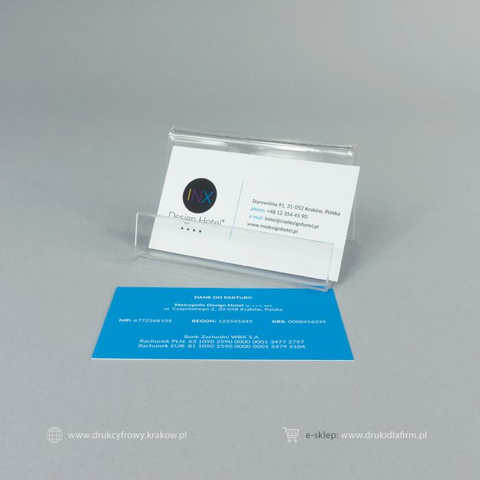 wizytówka standard z folią aksamitną