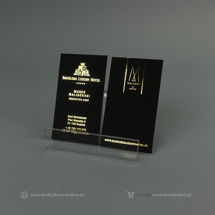 wizytówka złocona (złoto bezmatrycowe)