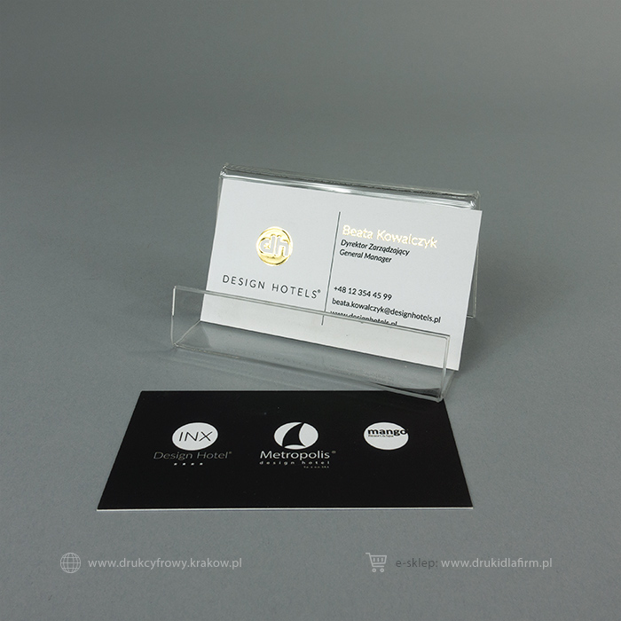 wizytówka złocona (złoto bezmatrycowe 3d)