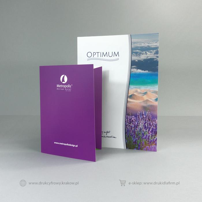 teczka reklamowa na dokumenty formatu A5 i A4
